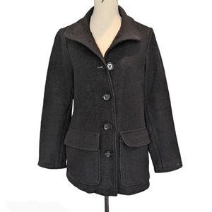 L.L. Bean Bellandi Wool Coat Black Size M